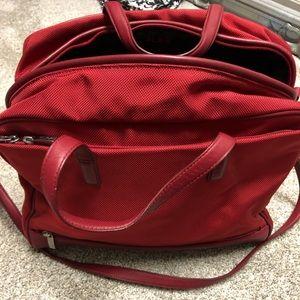 Tumi Red Weekender Bag